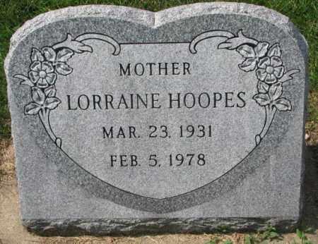 HOOPES, LORRAINE - Yankton County, South Dakota   LORRAINE HOOPES - South Dakota Gravestone Photos