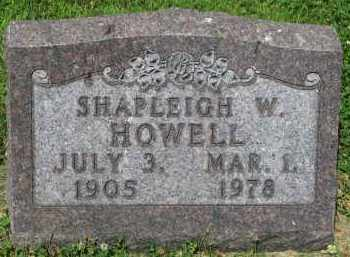 HOWELL, SHAPLEIGH W. - Yankton County, South Dakota | SHAPLEIGH W. HOWELL - South Dakota Gravestone Photos