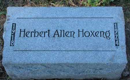 HOXENG, HERBERT ALLEN - Yankton County, South Dakota | HERBERT ALLEN HOXENG - South Dakota Gravestone Photos