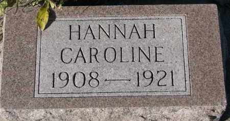 HOXENG, HANNAH CAROLINE - Yankton County, South Dakota | HANNAH CAROLINE HOXENG - South Dakota Gravestone Photos