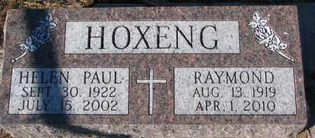 PAUL HOXENG, HELEN - Yankton County, South Dakota | HELEN PAUL HOXENG - South Dakota Gravestone Photos