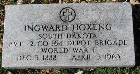 HOXENG, INGWARD (WW I) - Yankton County, South Dakota | INGWARD (WW I) HOXENG - South Dakota Gravestone Photos