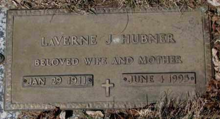 HUBNER, LAVERNE J. - Yankton County, South Dakota   LAVERNE J. HUBNER - South Dakota Gravestone Photos