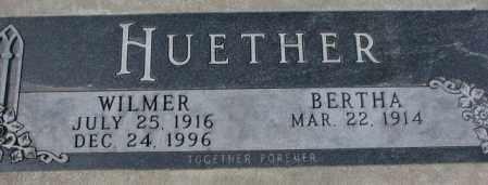 HUETHER, BERTHA - Yankton County, South Dakota | BERTHA HUETHER - South Dakota Gravestone Photos