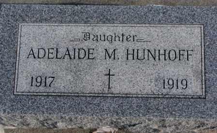 HUNHOFF, ADELAIDE M. - Yankton County, South Dakota | ADELAIDE M. HUNHOFF - South Dakota Gravestone Photos
