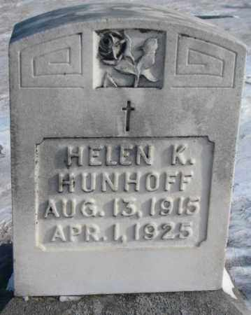HUNHOFF, HELEN K. - Yankton County, South Dakota | HELEN K. HUNHOFF - South Dakota Gravestone Photos