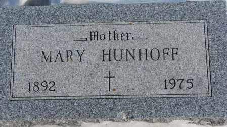 HUNHOFF, MARY - Yankton County, South Dakota   MARY HUNHOFF - South Dakota Gravestone Photos