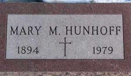 HUNHOFF, MARY M. - Yankton County, South Dakota | MARY M. HUNHOFF - South Dakota Gravestone Photos