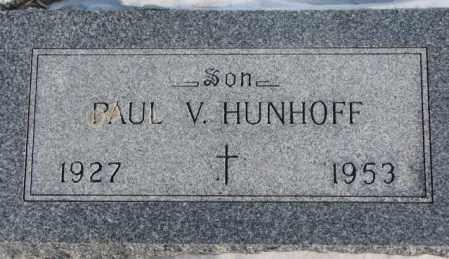 HUNHOFF, PAUL V. - Yankton County, South Dakota | PAUL V. HUNHOFF - South Dakota Gravestone Photos