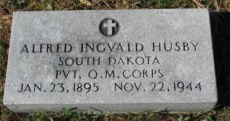 HUSBY, ALFRED INGVALD - Yankton County, South Dakota   ALFRED INGVALD HUSBY - South Dakota Gravestone Photos