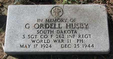 HUSBY, G. ORDELL - Yankton County, South Dakota | G. ORDELL HUSBY - South Dakota Gravestone Photos