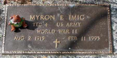 IMIG, MYRON E. (WW II) - Yankton County, South Dakota | MYRON E. (WW II) IMIG - South Dakota Gravestone Photos