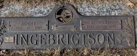 INGEBRIGHTSON, JENNY - Yankton County, South Dakota | JENNY INGEBRIGHTSON - South Dakota Gravestone Photos
