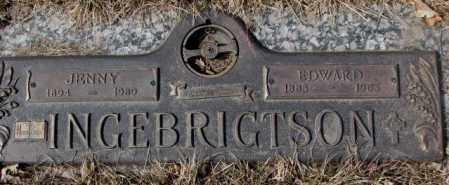 INGEBRIGHTSON, JENNY - Yankton County, South Dakota | JENNY INGEBRIGHTSON - South Dakota Gravestone Photos