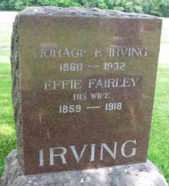 FAIRLEY IRVING, EFFIE - Yankton County, South Dakota | EFFIE FAIRLEY IRVING - South Dakota Gravestone Photos