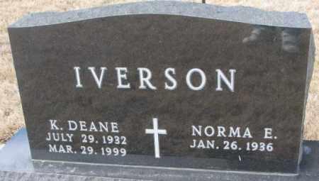IVERSON, K. DEANE - Yankton County, South Dakota | K. DEANE IVERSON - South Dakota Gravestone Photos