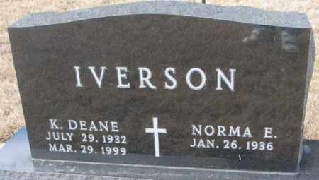 IVERSON, NORMA E. - Yankton County, South Dakota | NORMA E. IVERSON - South Dakota Gravestone Photos
