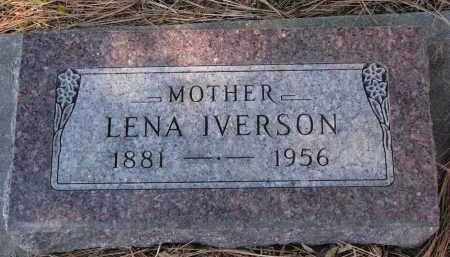 IVERSON, LENA - Yankton County, South Dakota | LENA IVERSON - South Dakota Gravestone Photos