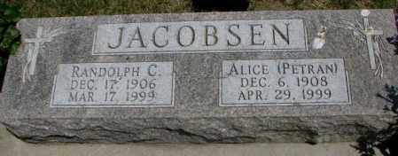 PETRAN JACOBSEN, ALICE - Yankton County, South Dakota | ALICE PETRAN JACOBSEN - South Dakota Gravestone Photos