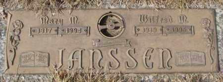 JANSSEN, MARY M. - Yankton County, South Dakota | MARY M. JANSSEN - South Dakota Gravestone Photos