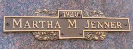 JENNER, MARTHA M. - Yankton County, South Dakota | MARTHA M. JENNER - South Dakota Gravestone Photos