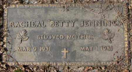 "JENNINGS, RACHEAL ""BETTY"" - Yankton County, South Dakota 