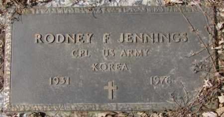 JENNINGS, RODNEY F. - Yankton County, South Dakota   RODNEY F. JENNINGS - South Dakota Gravestone Photos