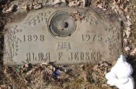 JENSEN, ALMA F. - Yankton County, South Dakota | ALMA F. JENSEN - South Dakota Gravestone Photos