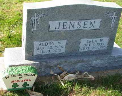 JENSEN, ERLA W. - Yankton County, South Dakota | ERLA W. JENSEN - South Dakota Gravestone Photos