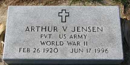 JENSEN, ARTHUR V. - Yankton County, South Dakota   ARTHUR V. JENSEN - South Dakota Gravestone Photos
