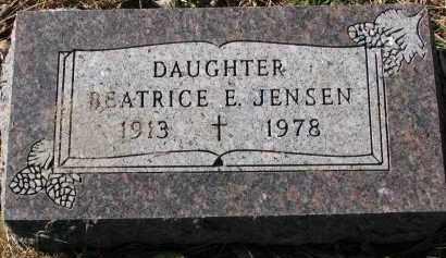 JENSEN, BEATRICE E. - Yankton County, South Dakota | BEATRICE E. JENSEN - South Dakota Gravestone Photos