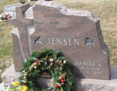 JENSEN, ALFREDA A. - Yankton County, South Dakota | ALFREDA A. JENSEN - South Dakota Gravestone Photos