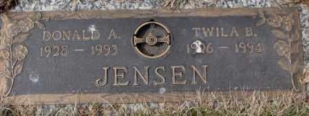 JENSEN, TWILA B. - Yankton County, South Dakota | TWILA B. JENSEN - South Dakota Gravestone Photos