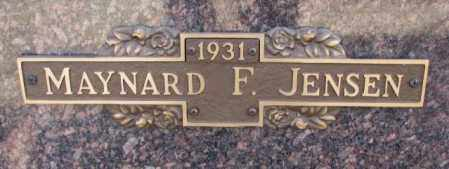 JENSEN, MAYNARD F. - Yankton County, South Dakota | MAYNARD F. JENSEN - South Dakota Gravestone Photos
