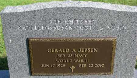 JEPSEN, GERALD A. (WW II) - Yankton County, South Dakota   GERALD A. (WW II) JEPSEN - South Dakota Gravestone Photos