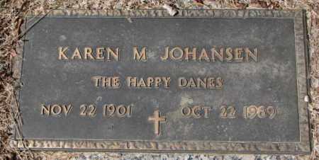 JOHANSEN, KAREN M. - Yankton County, South Dakota   KAREN M. JOHANSEN - South Dakota Gravestone Photos