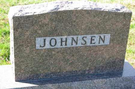 JOHNSEN, FAMILY STONE - Yankton County, South Dakota | FAMILY STONE JOHNSEN - South Dakota Gravestone Photos