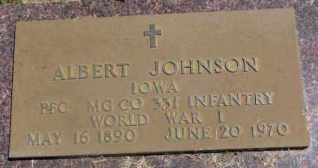 JOHNSON, ALBERT (WW I) - Yankton County, South Dakota | ALBERT (WW I) JOHNSON - South Dakota Gravestone Photos