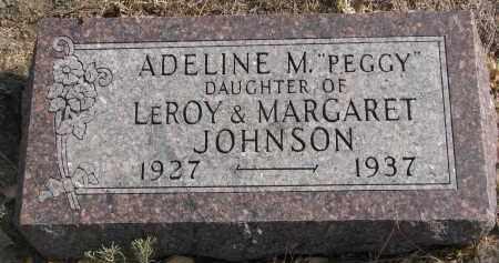 "JOHNSON, ADELINE M. ""PEGGY"" - Yankton County, South Dakota | ADELINE M. ""PEGGY"" JOHNSON - South Dakota Gravestone Photos"