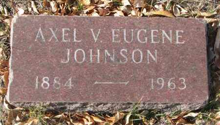 JOHNSON, AXEL V. EUGENE - Yankton County, South Dakota   AXEL V. EUGENE JOHNSON - South Dakota Gravestone Photos