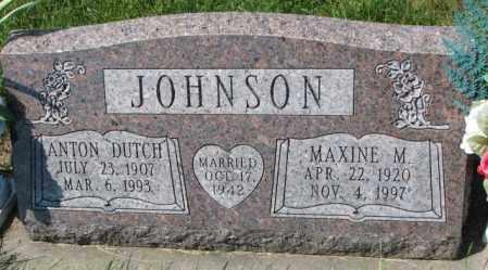 "JOHNSON, ANTON ""DUTCH"" - Yankton County, South Dakota | ANTON ""DUTCH"" JOHNSON - South Dakota Gravestone Photos"