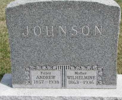 JOHNSON, WILHELMINE - Yankton County, South Dakota | WILHELMINE JOHNSON - South Dakota Gravestone Photos