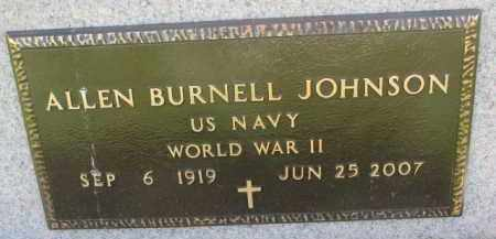 JOHNSON, ALLEN BURNELL (WW II) - Yankton County, South Dakota | ALLEN BURNELL (WW II) JOHNSON - South Dakota Gravestone Photos
