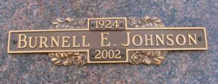JOHNSON, BURNELL E. - Yankton County, South Dakota | BURNELL E. JOHNSON - South Dakota Gravestone Photos