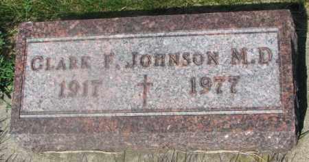 JOHNSON, CLARK F. (M.D.) - Yankton County, South Dakota | CLARK F. (M.D.) JOHNSON - South Dakota Gravestone Photos