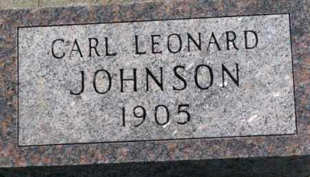 JOHNSON, CARL LEONARD - Yankton County, South Dakota | CARL LEONARD JOHNSON - South Dakota Gravestone Photos