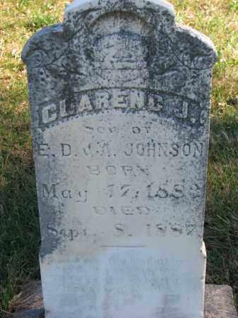 JOHNSON, CLARENC J. - Yankton County, South Dakota   CLARENC J. JOHNSON - South Dakota Gravestone Photos