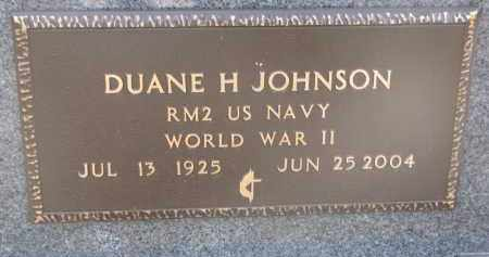 JOHNSON, DUANE H. (WWII) - Yankton County, South Dakota   DUANE H. (WWII) JOHNSON - South Dakota Gravestone Photos