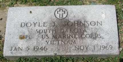 JOHNSON, DOYLE J. #2 - Yankton County, South Dakota | DOYLE J. #2 JOHNSON - South Dakota Gravestone Photos