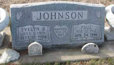 JOHNSON, EVELYN B. - Yankton County, South Dakota | EVELYN B. JOHNSON - South Dakota Gravestone Photos